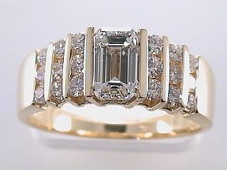 1.80 Carat EGL Certified Emerald Cut Diamond Ring SOLD