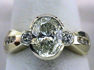 1.43 Carat Oval Diamond Engagement Solitaire SOLD