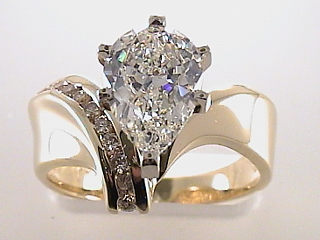 2.0 Carat Pear Shaped Diamond Engagement Ring SOLD