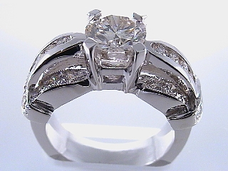 2.30 Carat Designer Style Brilliant Cut Diamond Engagement Ring SOLD