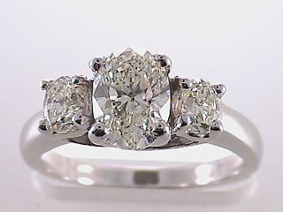 1.52 Carat GIA 3 Stone Diamond Engagement Ring SOLD