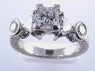1.94 Carat EGL Princess Cut Diamond & Platinum Ring SOLD