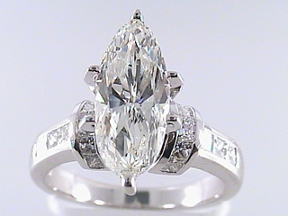 3.59 Carat Marquise Cut Diamond Engagement Ring SOLD