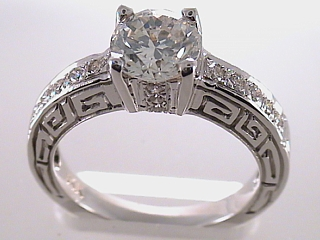 1.73 Carat Greek Style Diamond Engagement Ring SOLD