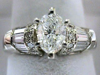 2.08 Carat Oval Cut Diamond Engagement Ring SOLD