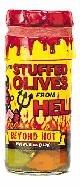 Habanero Stuffed Olives From Hell, 5oz.