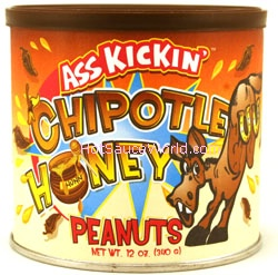 Ass Kickin' Chipotle Honey Peanuts, 12oz.