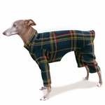 Italian Greyhound Dark Plaid Indoor/Outdoor Bodysuit