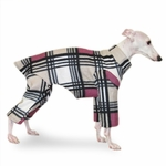 Italian Greyhound Black/WHite/Rose Indoor/Outdoor Bodysuit