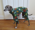 Italian Greyhound Hunter Trees Holiday Indoor/Outdoor Bodysuit
