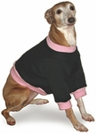 Italian Greyhound Black Sweatshirt with Pink Cuffs