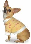 Toy & Teacup Embroidered Fleece Yellow Sweater
