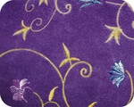 Toy & Teacup Embroidered Fleece Violet Sweater