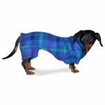 Dachshund Turquoise Plaid Indoor/Outdoor Bodysuit