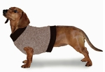 Dachshund Fleeced Camel Sweater