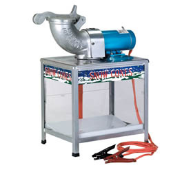 High Speed Battery Powered Snow Cone Machine and Kit