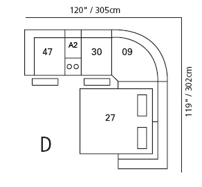 Pembina Sectional Configuration D
