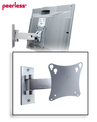 SmartMount Pivot Wall Mount for 10-24 inch Flat Panels