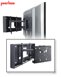 SmartMount Pull-Out Pivot Wall Mount for 26-58 in. LCDs
