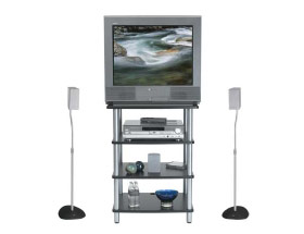 Sanus Accurate Four Shelf Modular Audio Video Stand