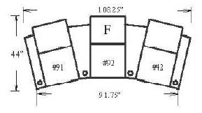 Jaymar 57334 Configuration F Theater Seating