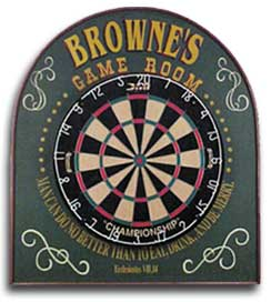 Personalized Game Room Dartboard Sign Set