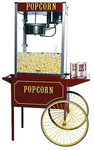 Theater Popcorn Machine with 12oz Kettle and Cart