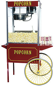 Theater Popcorn Machine with 16oz Kettle and Cart