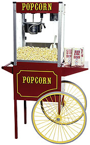 Theater Popcorn Machine with 6oz Kettle and Cart