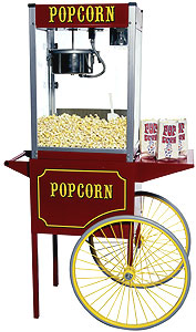 Theater Popcorn Machine with 8oz Kettle and Cart