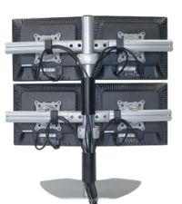 Quad Table Plasma TV Stand for Multiple Monitors