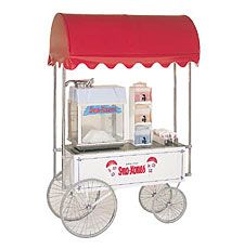 "White 36"" x 20"" Steerable Sno-Kone Wagon"