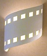 Home Theater Lighting Wave Down Up Filmstrip Sconce