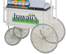 "Hawaii's Finest 36"" x 20"" Shave Ice Wagon"