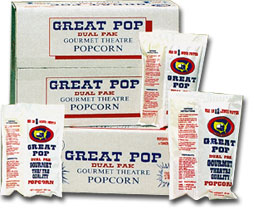 Great Pop Dual Pack Theater Popcorn Dual Pack 48 4oz Packs