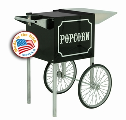 Small 1911 Popcorn Cart - Black & Chrome