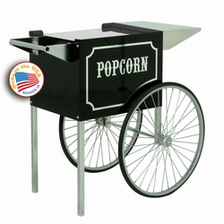 Medium 1911 Popcorn Cart - Black & Chrome
