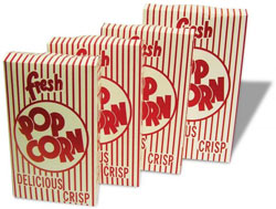.95 oz Closed Top Popcorn Boxes - 100