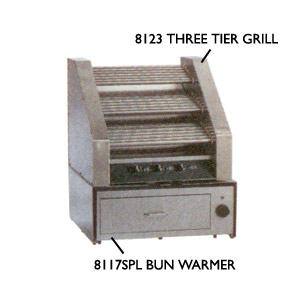 Hot Dog Bun Warmer for 8123 and 8223 Hot Dog Grills