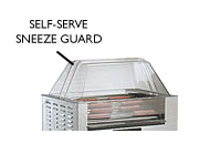 Hot Dog Grill Sneeze Guard for Mid Size Hot Diggity