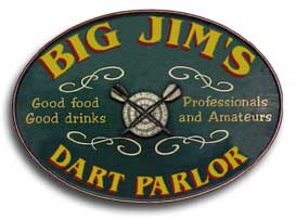 Personalized Dart Parlor Sign