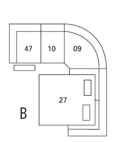 Palliser Delaney Sectional Configuration B