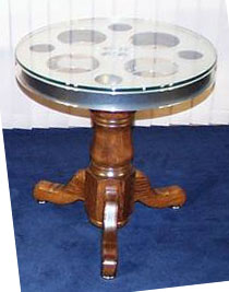 Home Theater End Table with Reel Top