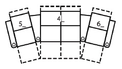 Palliser Tijuana Curved Row of 4 Home Theater Seats with Loveseat