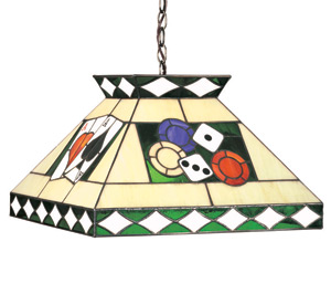 Poker Theme Stained Glass Ceiling Light