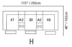Harley Sectional Configuration H