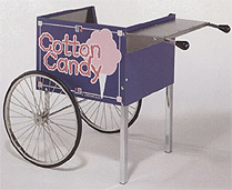 Blue Ringmaster Cotton Candy Knock-Down Cart