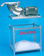 Two Piece Shav-A-Doo II Snow Cone Machine