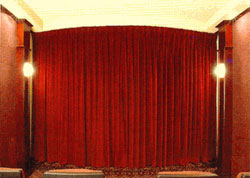 109-132 inch Wide Unlined Luxury Home Theater Curtain