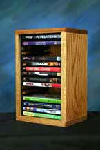 Solid Oak DVD Storage Rack 26 Capacity